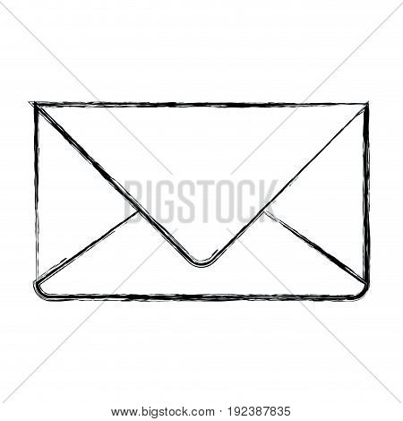 monochrome blurred silhouette of envelope mail in closeup vector illustration