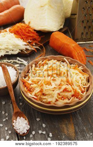 Sauerkraut In The Ceramic Bowl