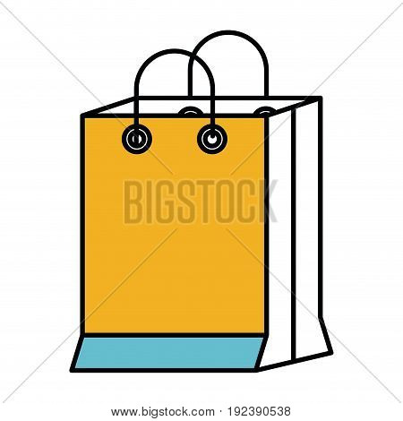 color sections silhouette of shopping bag vector illustration