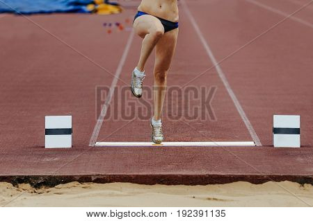takeoff board and leg athletes women competitions in long jump