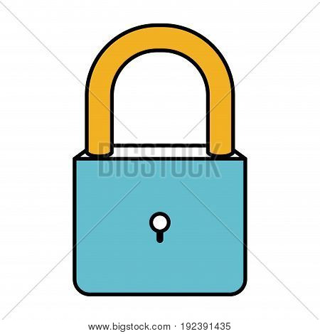 color sections silhouette of padlock icon vector illustration