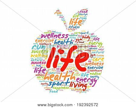 Life Apple Word Cloud Collage