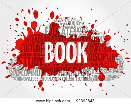 Book Word Cloud Collage