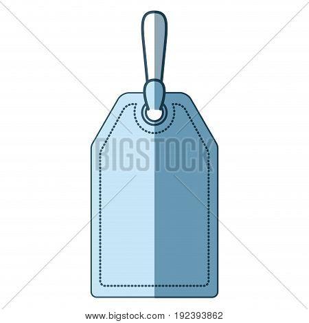 blue shading silhouette of mark label vector illustration