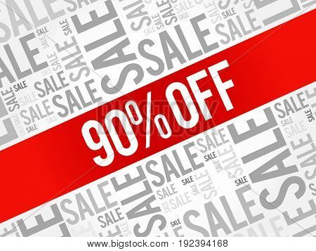 90% Off Sale Words Cloud