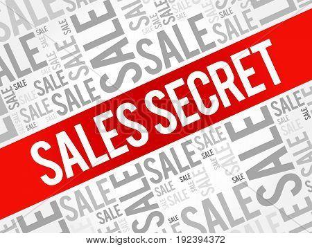 Sales Secret Words Cloud
