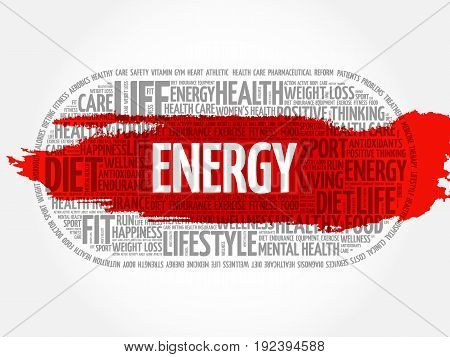 Energy Word Cloud, Fitness