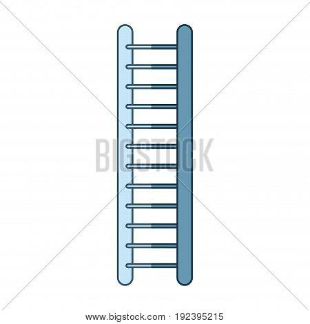 blue shading silhouette of ladder vector illustration