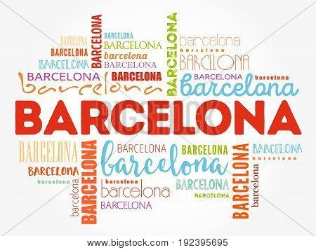 Barcelona Wallpaper Word Cloud