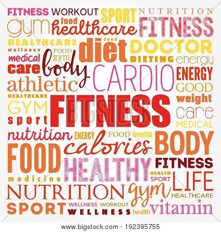 Fitness Word Cloud, Sport