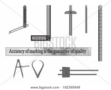 Tools for measuring. For woodworking workshops Accuracy of marking is the guarantee of quality