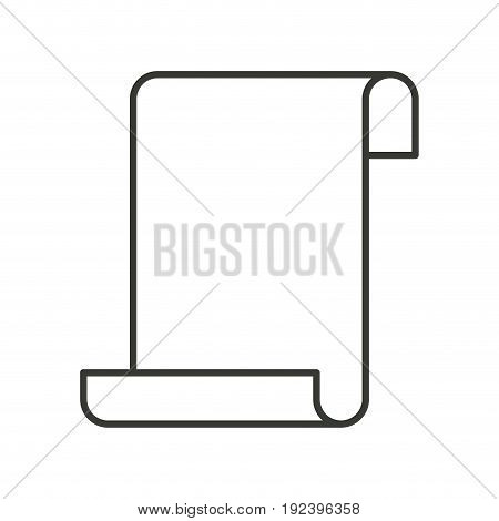monochrome silhouette of continuously sheet in blank vector illustration