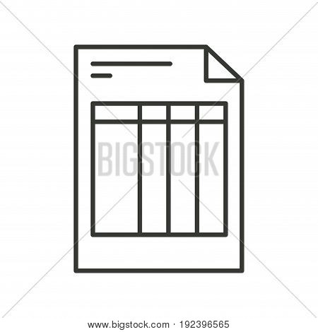 monochrome silhouette of invoice form vector illustration