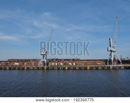 Hansahafen Harbour In Luebeck