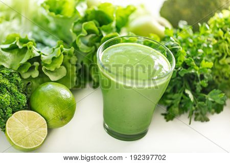Green health healthy smoothie table color image