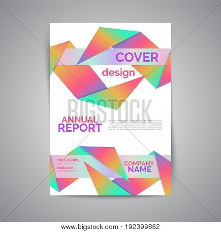 Cover design with fluid color. Annual report template. Abstract business brochure. Vector illustration