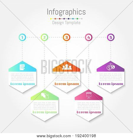 Creative concept business data for infographic template