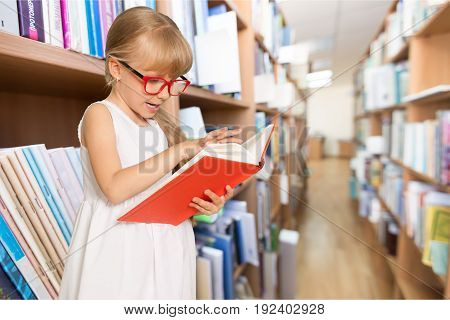 Girl cute book elementary age little girl well being child care