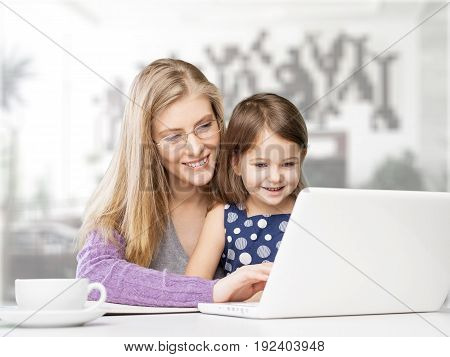 Happy mother real estate home decor leisure color computer