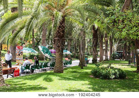 People In Urban Park In Faro City