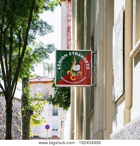 Signboard Of French Foreign Legion In Nice