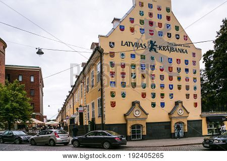 House With Coats Of Arms Of Latvian Towns