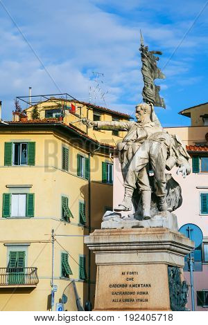 Monument Of Piazza Mentana In Florence City