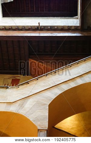 Stairs In Museum Of Ancient Florentine Home