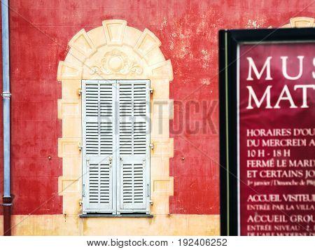 Wall Of Musee Matisse (matisse Museum) In Nice