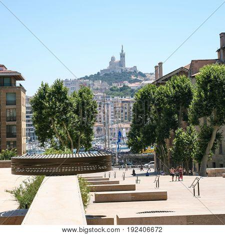 View Of Basilica Notre-dame De La Garde