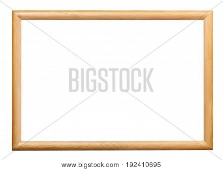 Wooden Simple Narrow Picture Frame Isolated