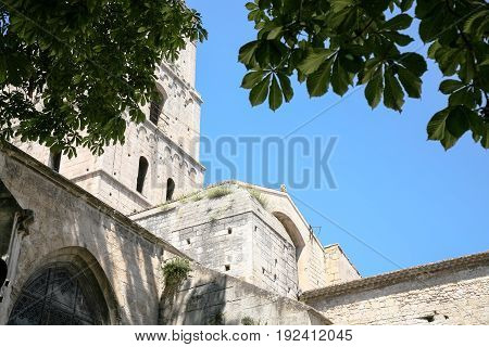 Bell Tower Of Church Of St Trophime In Arles City
