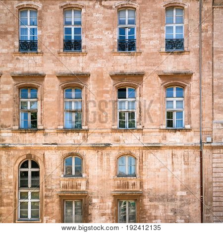 Wall Of Apartment House In Marseilles City