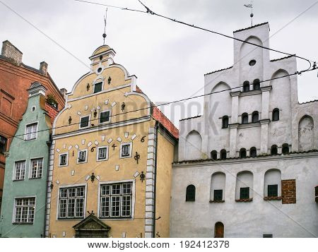 Three Medieval Houses (the Three Brothers) In Riga