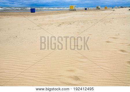 Urban Sand Beach In Resort Jurmala Town In Autumn