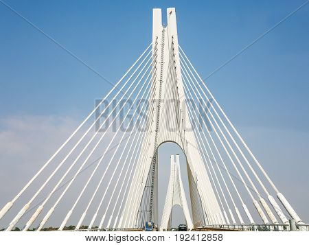 Portimao Bridge Over Arade River In Portugal