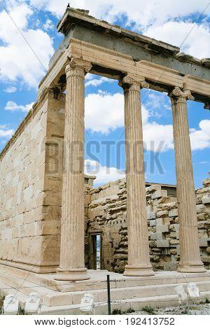 Columns Of Athenian Propylaea Of Acropolis
