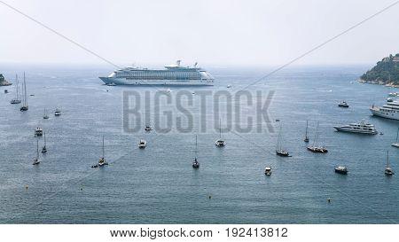 Liner, Boats, Yacht Near Nice City