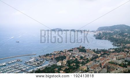 View Of City On Cote D'azur Of French Riviera