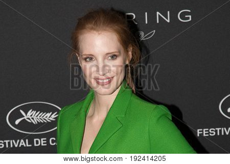 Jessica Chastain at the Women in Motion Awards Dinner  for at the 70th Festival de Cannes.May 21, 2017 Cannes, France
