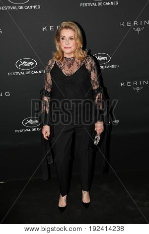 Catherine Deneuve at the Women in Motion Awards Dinner  for at the 70th Festival de Cannes.May 21, 2017 Cannes, France