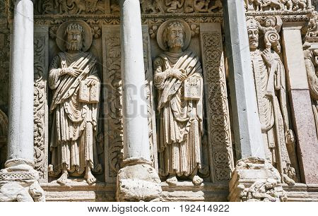Wall Sculptures Of Church Of St. Trophime In Arles