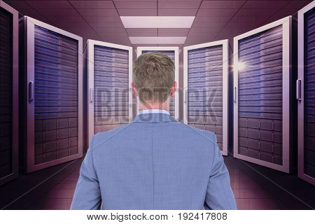 Digital composite of data center