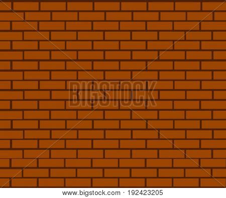 background of brick wall made of brown bricks