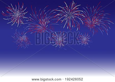 Fireworks - Abstract Holiday Background.symbol Of Celebration. Vector Illustration. Holiday Firework