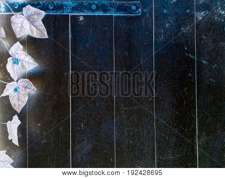 Dark wood texture background surface with old natural pattern or dark wood texture table top view. Grunge surface with wood texture background. Vintage timber texture background. Rustic table top view