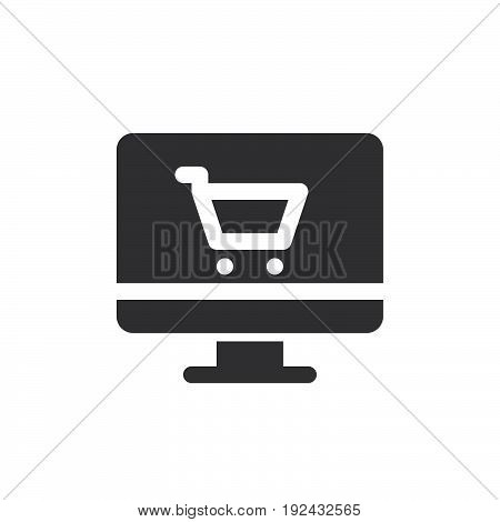 Internet store icon vector filled flat sign solid pictogram isolated on white. Online shopping symbol logo illustration. Pixel perfect