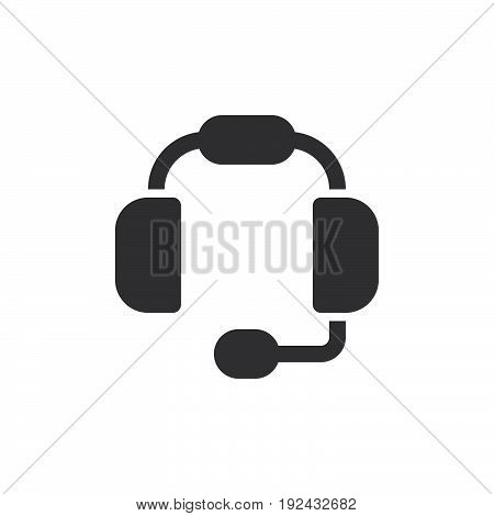 Headset icon vector filled flat sign solid pictogram isolated on white. Customer support symbol logo illustration. Pixel perfect