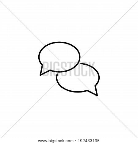 Talk icon in outline style for web, infographics and creative design. Isolated vector illustration