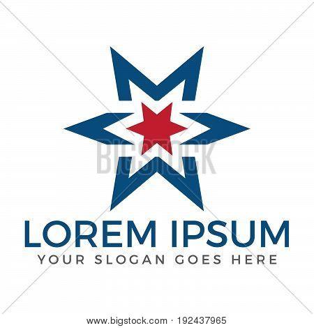 Star vector logo. Star icon. Leader boss star, winner, star rating, rank. Star astrology symbol. Starburst logo isolated. Star icon logotype. Sport star logo. Astronomy star logo.